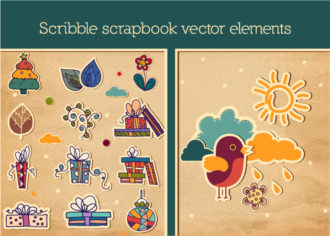 Scrapbook Vector Elements Vector packs flower