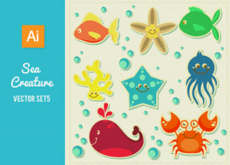 Sea Creatures Vector Set 5 Vector packs shell