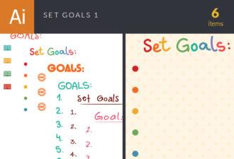 Set Goals Vector Set 1 Vector packs abstract