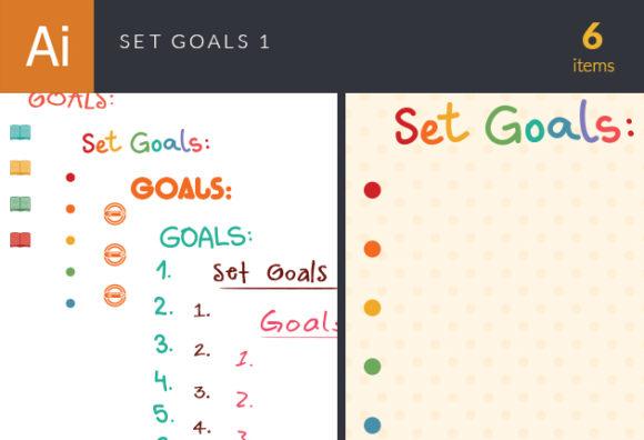Set Goals Vector Set 1 designtnt set goals vector set 1 vector small