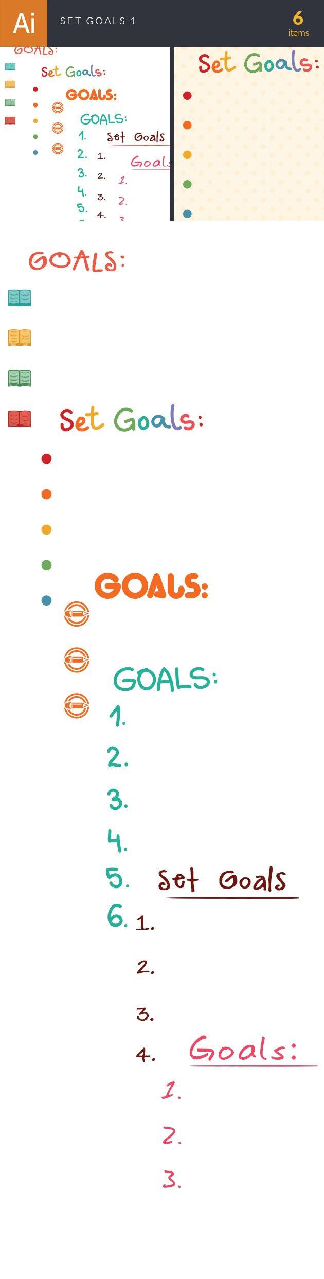 Set Goals Vector Set 1 designtnt set goals vector set 1 vector large