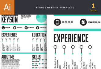 Simple Resume Set 1 Vector packs abstract