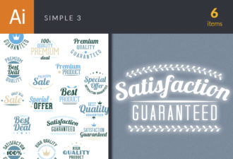 Simple Vector Set 3 Vector packs satisfaction