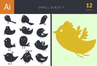 Small Birds Set 7 Vector packs bird