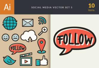 Social Media Doodle Vector Set 5 Vector packs play