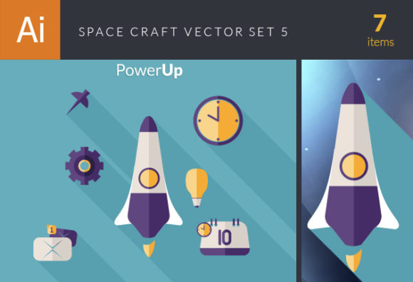 Space Craft Vector Set 5 Vector packs pin