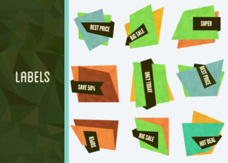 Special Offer Vector Labels And Banners Set 1 Vector packs abstract