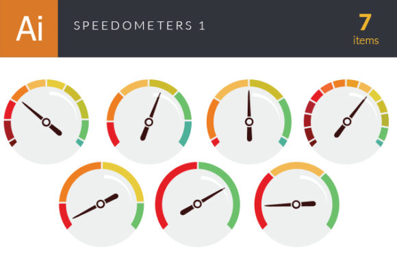 Speedometers Vector Set 1 Vector packs abstract