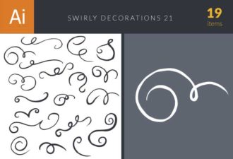 Swirly Decorations For Frames Set 21 Vector packs decorations