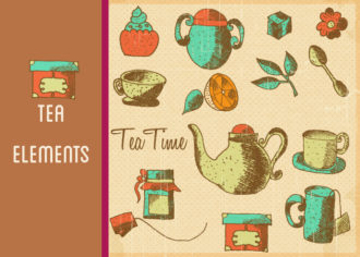 Tea Vector Set 1 Vector packs flower