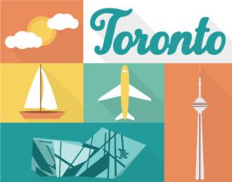 Toronto Vector Vector packs sun