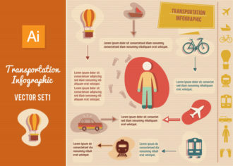 Transportation Infographic Vector Set 1 Infographics car