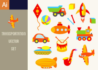 Transportation Vector Set 1 Vector packs ball