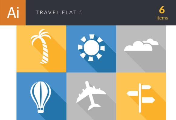 Travel Flat Vector Set 1 Vector packs [tag]