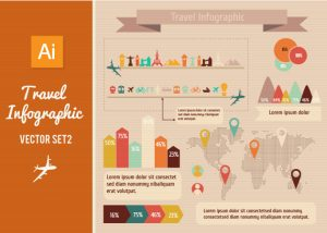 Free Travel Vector Infographic Set Freebies car