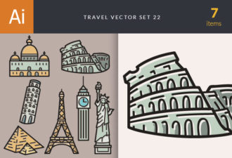 Travel Vector Set 22 Vector packs statue