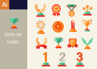 Trophy And Awards Vector Set 1 Vector packs abstract