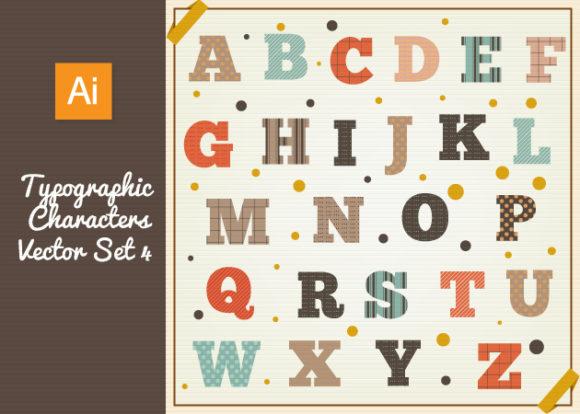 Typographic Characters Vector Set 4 designtnt typographic characters vector set 4 vector small
