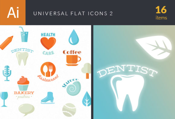 Universal Flat Icons Vector Set 2 1
