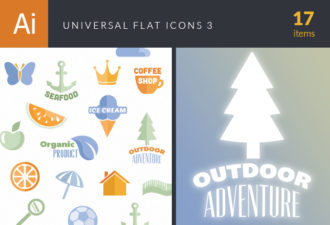 Universal Flat Icons Vector Set 3 Vector packs ball