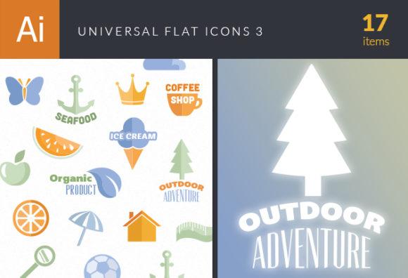Universal Flat Icons Vector Set 3 designtnt universal flat icons vector set 3 vector small