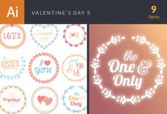Valentine's Day Vector Set 5 Vector packs heart