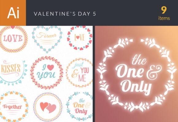 Valentine's Day Vector Set 5 designtnt valentine s day vector set 5 vector small