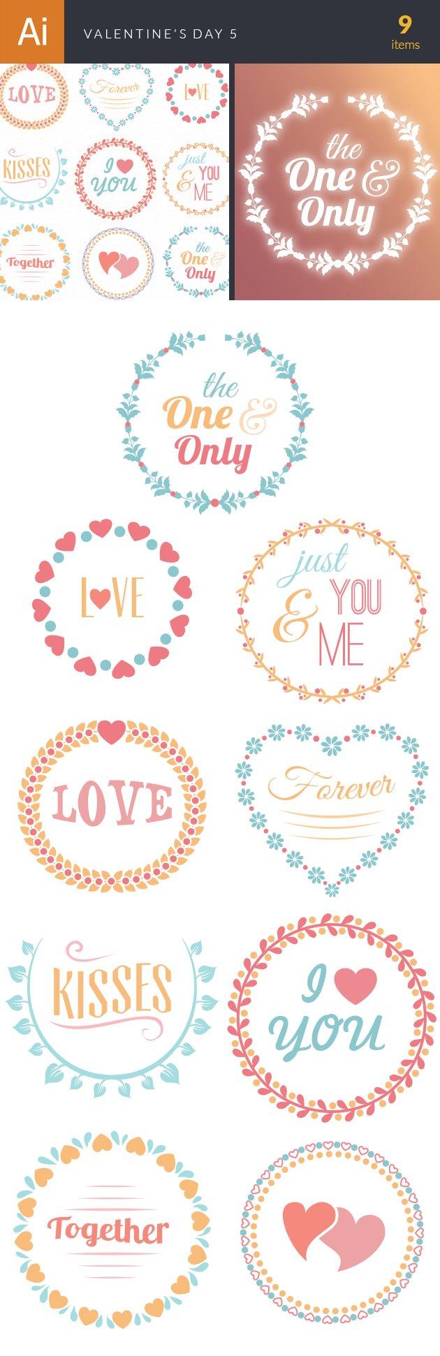Valentine's Day Vector Set 5 designtnt valentine s day vector set 5 vector large