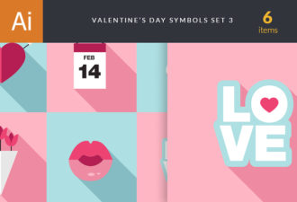 Valentine's Day Symbols Vector Set 3 Vector packs flower