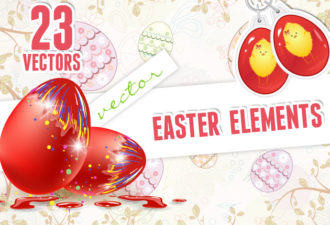 Vector Easter Elements 1 Vector packs spring