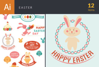 Vector Easter Elements 6 Vector packs spring