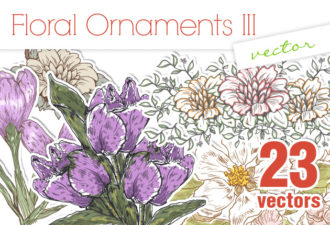 Vector Floral Ornaments 3 Vector packs nature