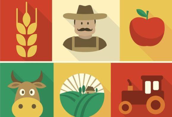 Farmer Vector farming vector set