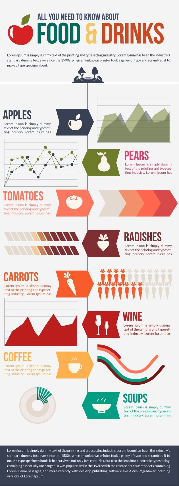Food and Drinks Infographic Vector Set 2