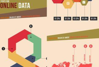 Online data Infographics Infographics vector