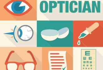 Optician Vector Vector packs glasses