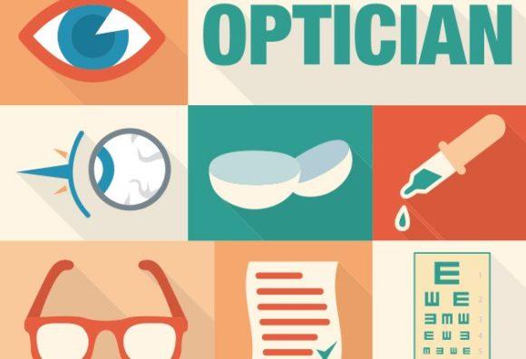 Optician Vector Vector packs glasses