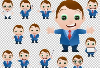 Vector Mascots Business Man Vector packs people