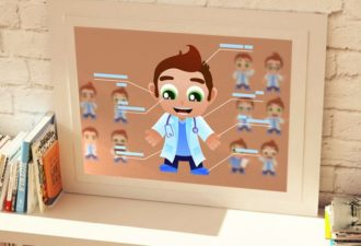 Doctor Vector Mascots Vector packs people