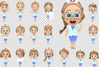 Vector Nurse Mascots Vector packs people