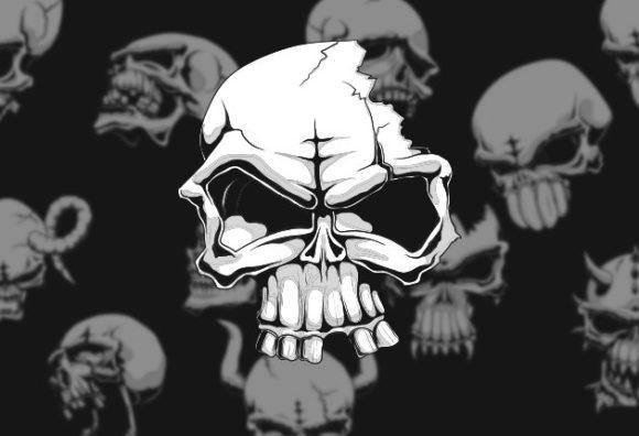 Vector Skulls Set 1 Vector packs vintage