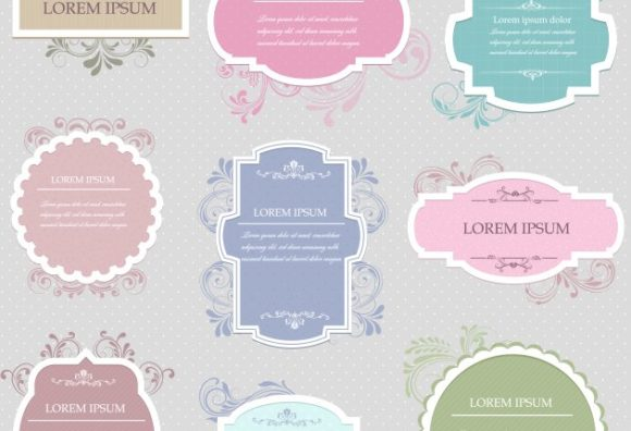 Vintage Frames Vector Set 2 Vector packs frame