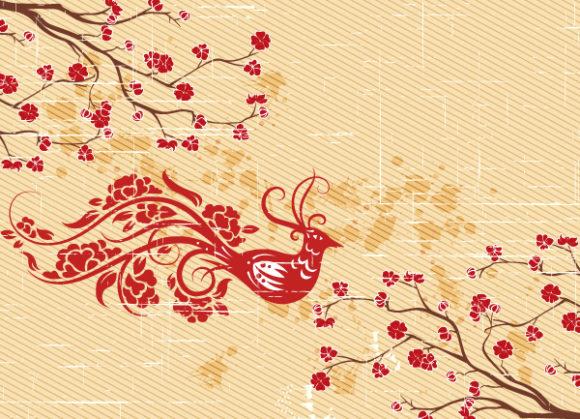 Rust Eps Vector Grunge Floral Background Vector Illustration 5