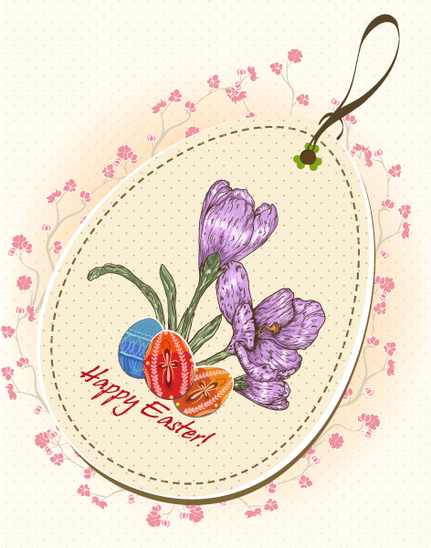 Egg, Creative, Illustration Vector Background Easter Shopping Tag Vector Illustration 3