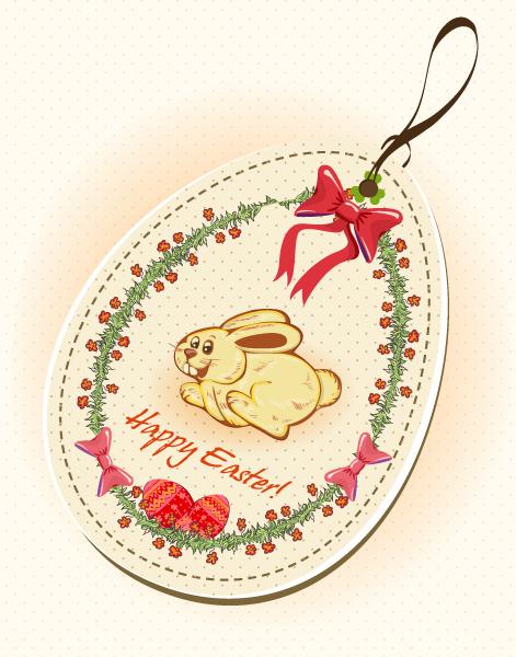 easter shopping tag vector illustration Vector Illustrations floral
