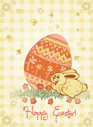 easter background with bunny vector illustration Vector Illustrations floral
