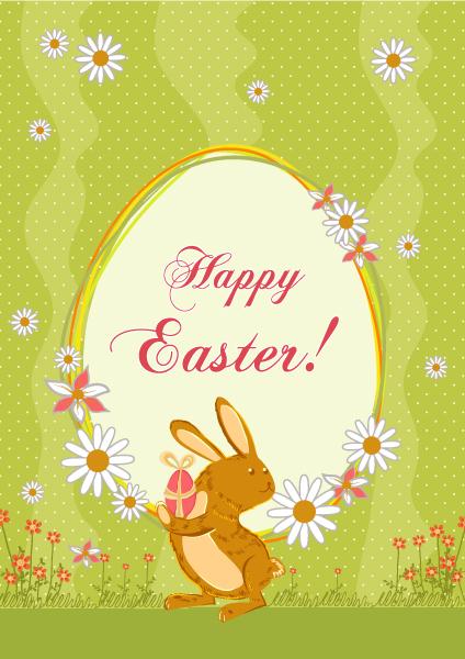 Easter Vector Image: Easter Background Vector Image Illustration 3