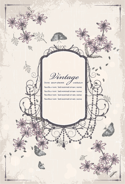 Gorgeous Floral Vector Graphic: Vector Graphic Vintage Frame With Floral 2015 01 01 039