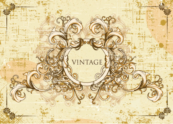 Floral Vector: Vector Vintage Frame With Floral 5