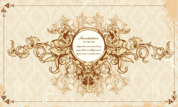New Floral-3 Vector Graphic: Vector Graphic Vintage Frame With Floral 2015 01 01 043